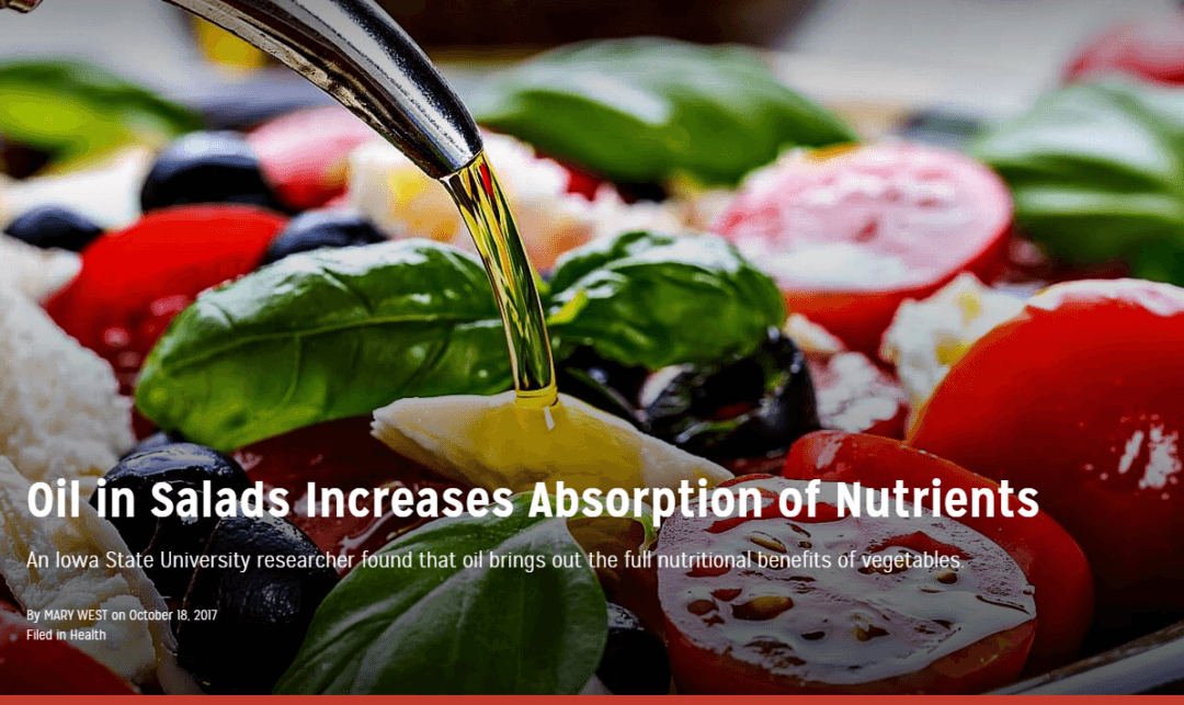 Oil in Salads Increases Absorption of Nutrients