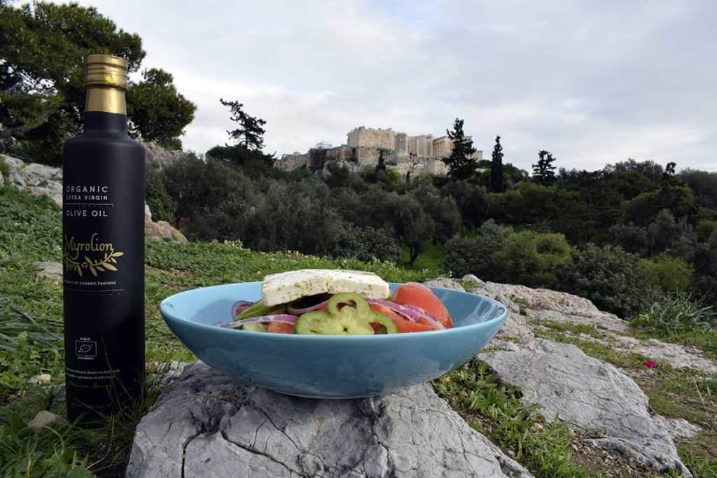 Myrolion Best Olive Oil, Greek Salad & The Acropolis