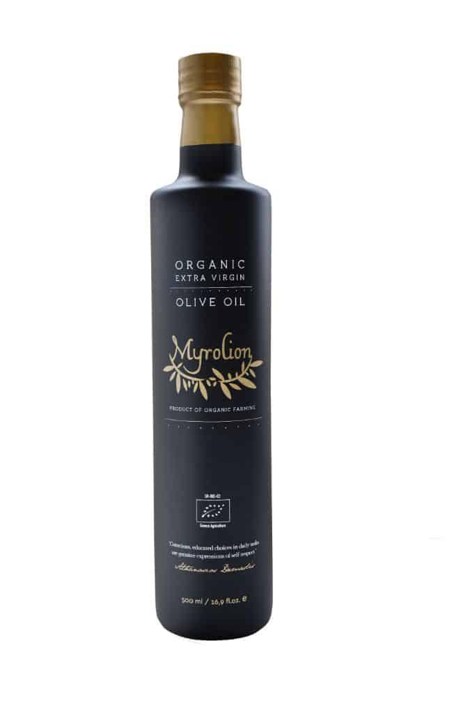 Myrolion 500ml Bottle Organic Extra Virgin High Phenolic Olive Oil Cold Pressed