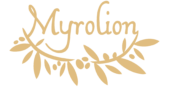 Logo of Myrolion High Phenolic Olive Oil.