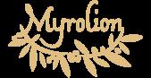 Logo of Myrolion High Phenolic Olive Oil.