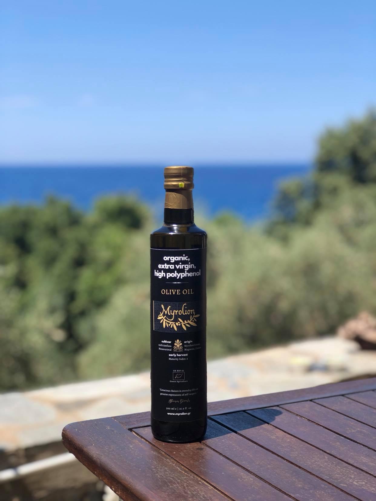 New Myrolion Bottle High Polyphenol Olive Oil