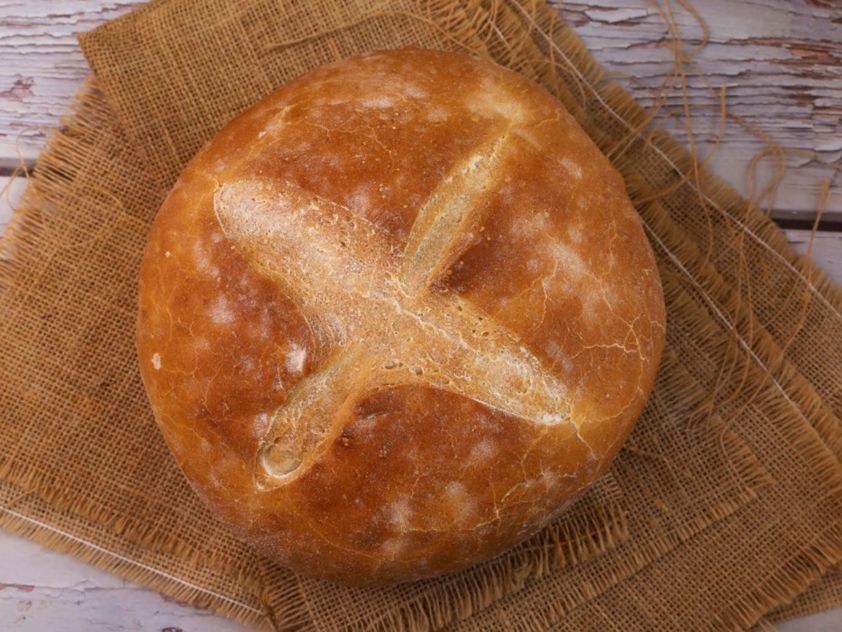 choriatiko bread ideal for dipping olive oil