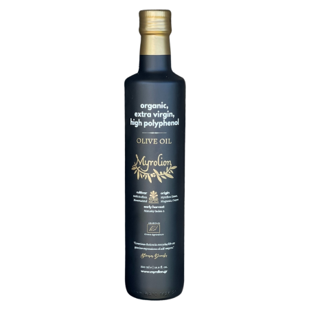 Myrolion Organic Extra Virgin Olive Oil Rich in Polyphenols - 2020-2021 Bottle