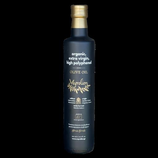Myrolion Organic Extra Virgin Olive Oil Rich in Polyphenols - 2020-2021 Bottle